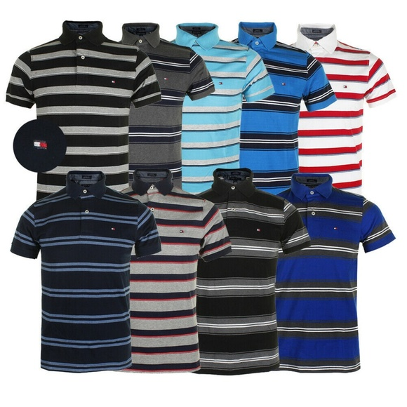 2797e437 Tommy Hilfiger Shirts | Mens Short Sleeve Striped Polo | Poshmark